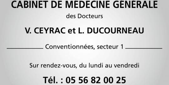 Enseigne cabinet de médecine générale